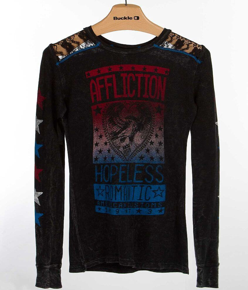 Affliction Breakdown Thermal Shirt front view