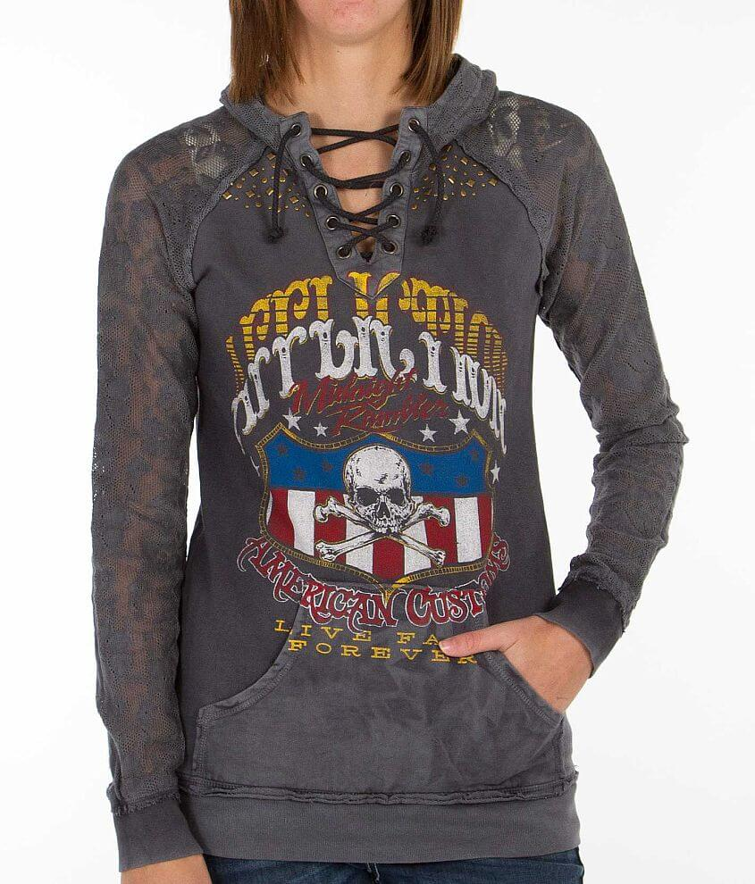 Affliction American Customs On The Road Sweatshirt front view