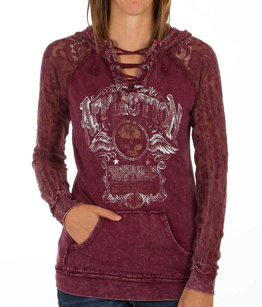 Affliction Kentucky Rye Hooded Sweatshirt front view
