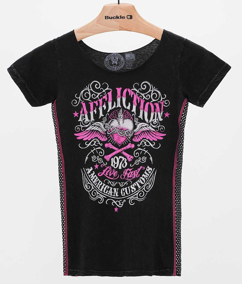 Affliction American Customs Corazon T-Shirt front view