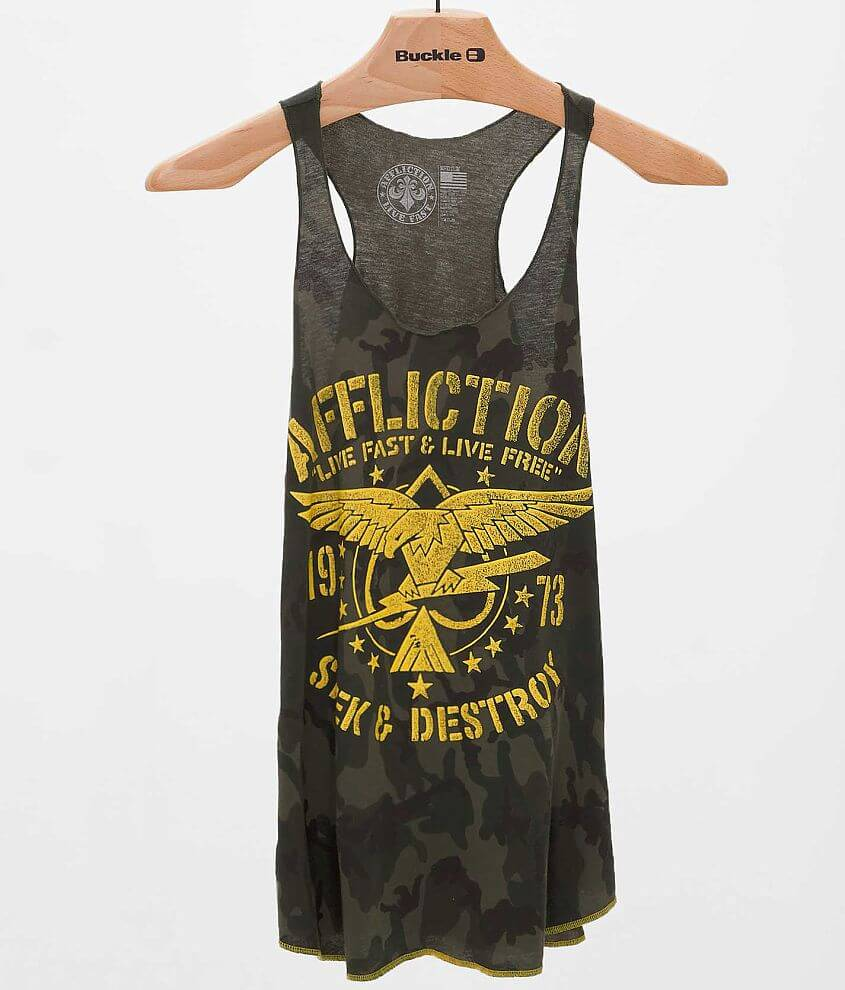Affliction Night Strike Tank Top front view