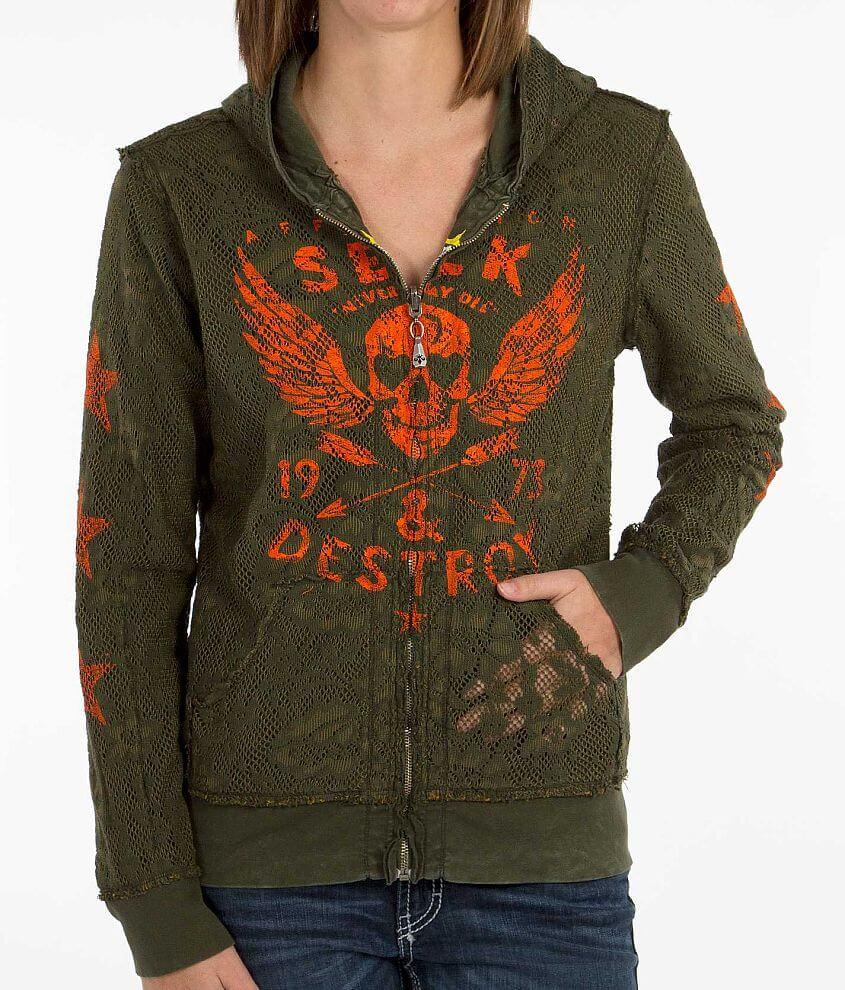Affliction Seek & Destroy Sweatshirt front view