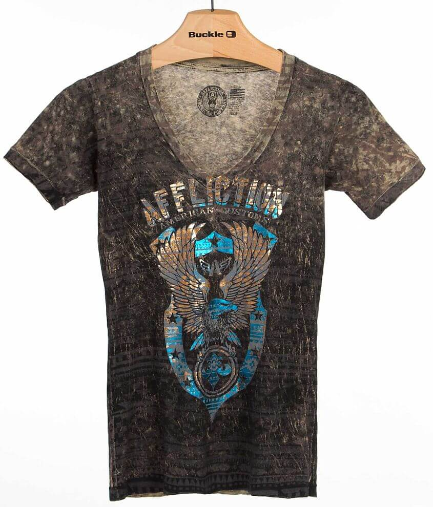 Affliction American Customs Onward T-Shirt front view