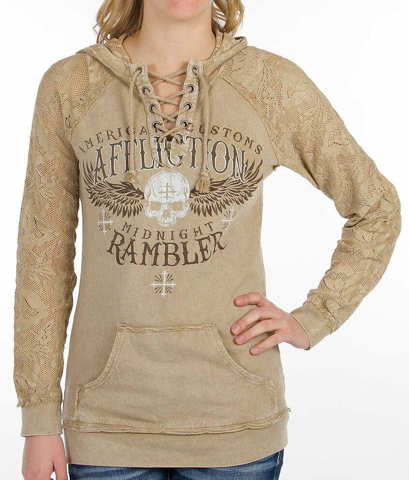Affliction Midnight Rambler Sweatshirt front view