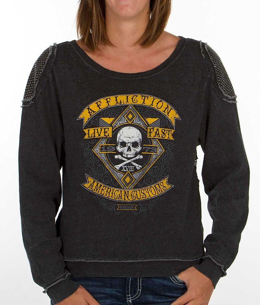Affliction American Customs Pale Ale Sweatshirt front view