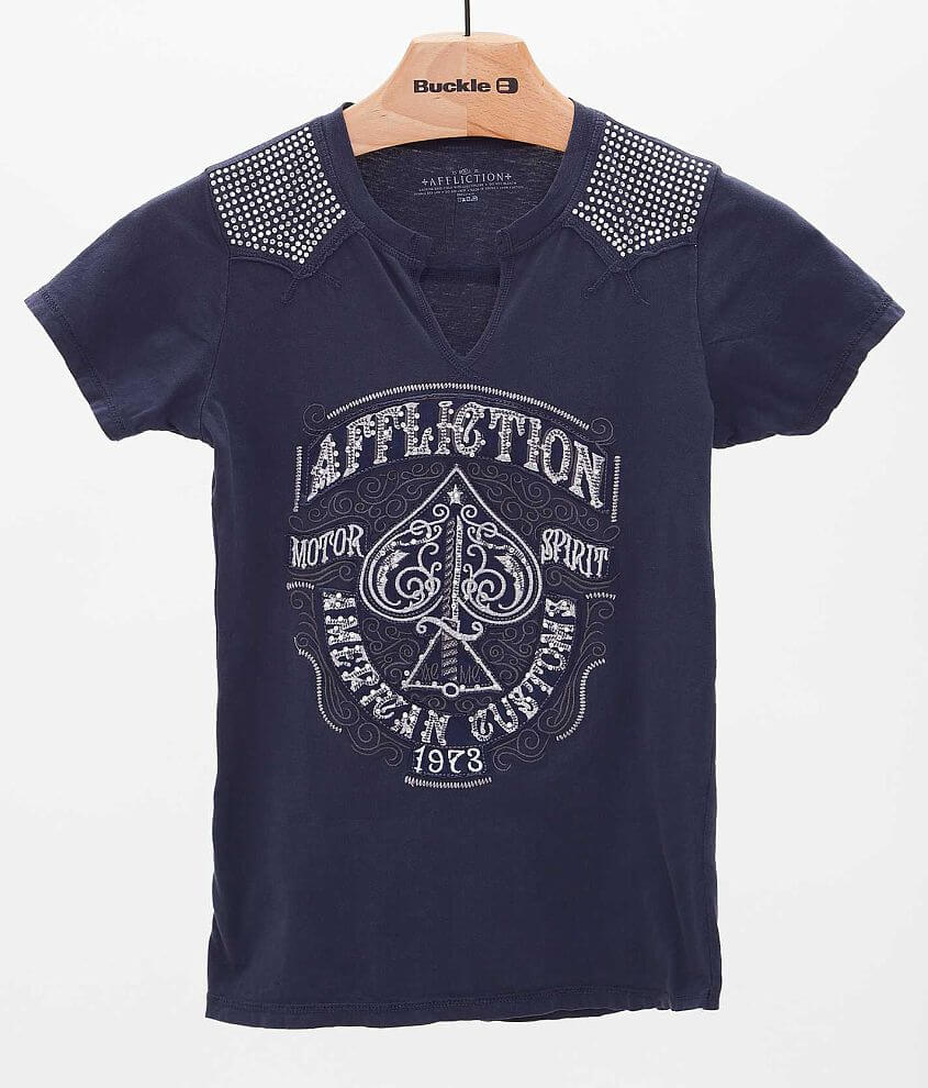 Affliction American Customs Spade T-Shirt front view