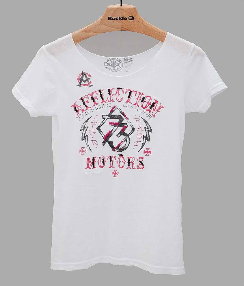 Affliction Live Fast Motors T-Shirt front view