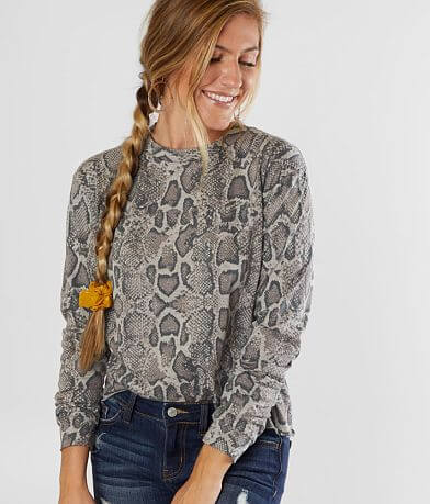Modish Rebel Sarah Snake Print Top