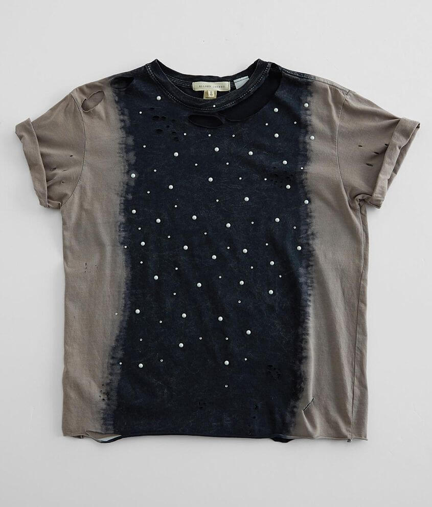 Gilded Intent Embellished Glitz T-Shirt front view
