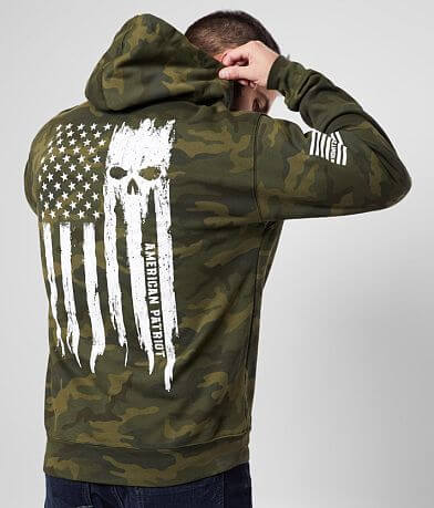 Howitzer Patriot Torn Camo Hooded Sweatshirt