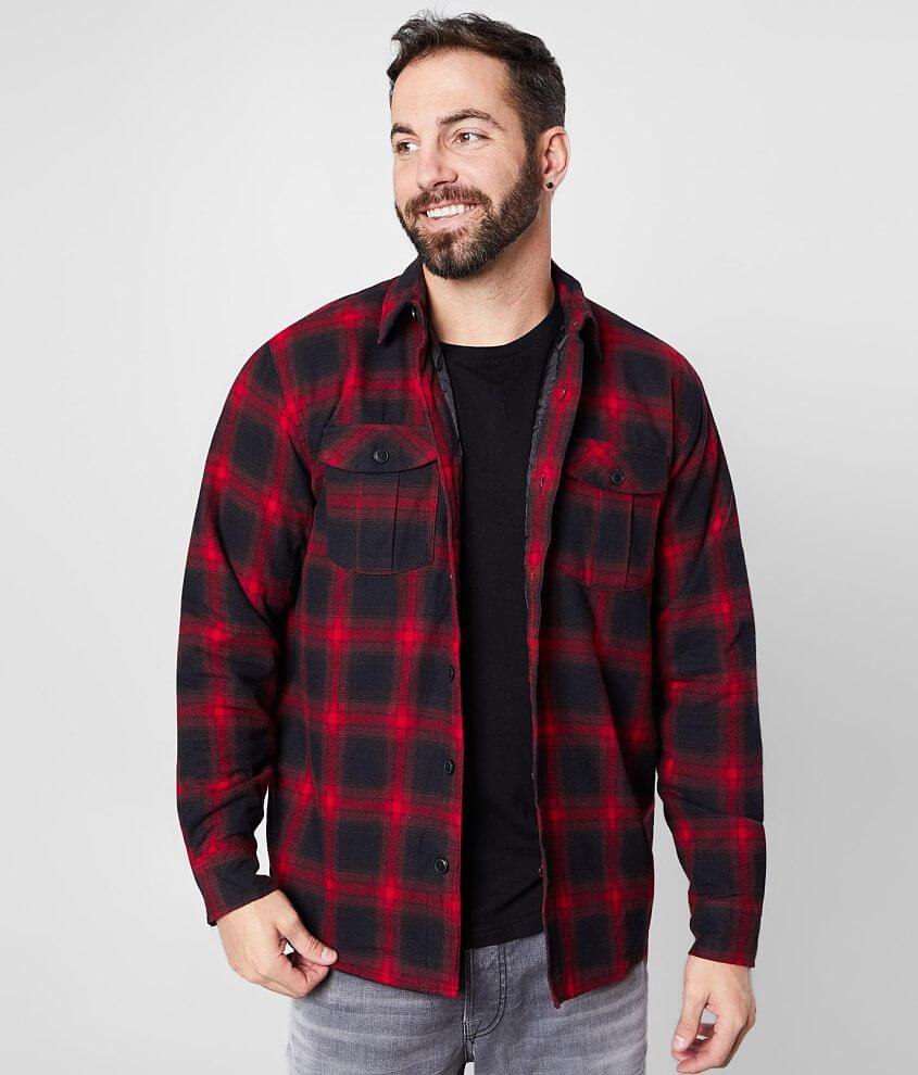 Howitzer Invasion Plaid Shacket front view