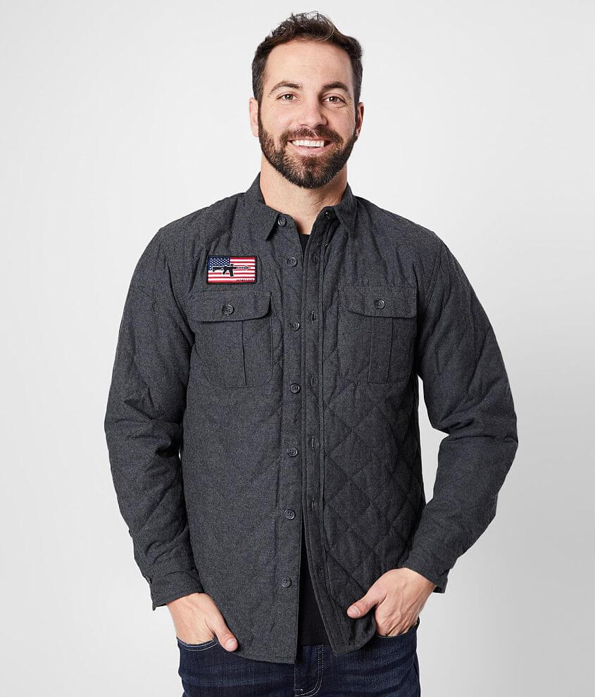 Howitzer Surrender Quilted Shirt Jacket front view