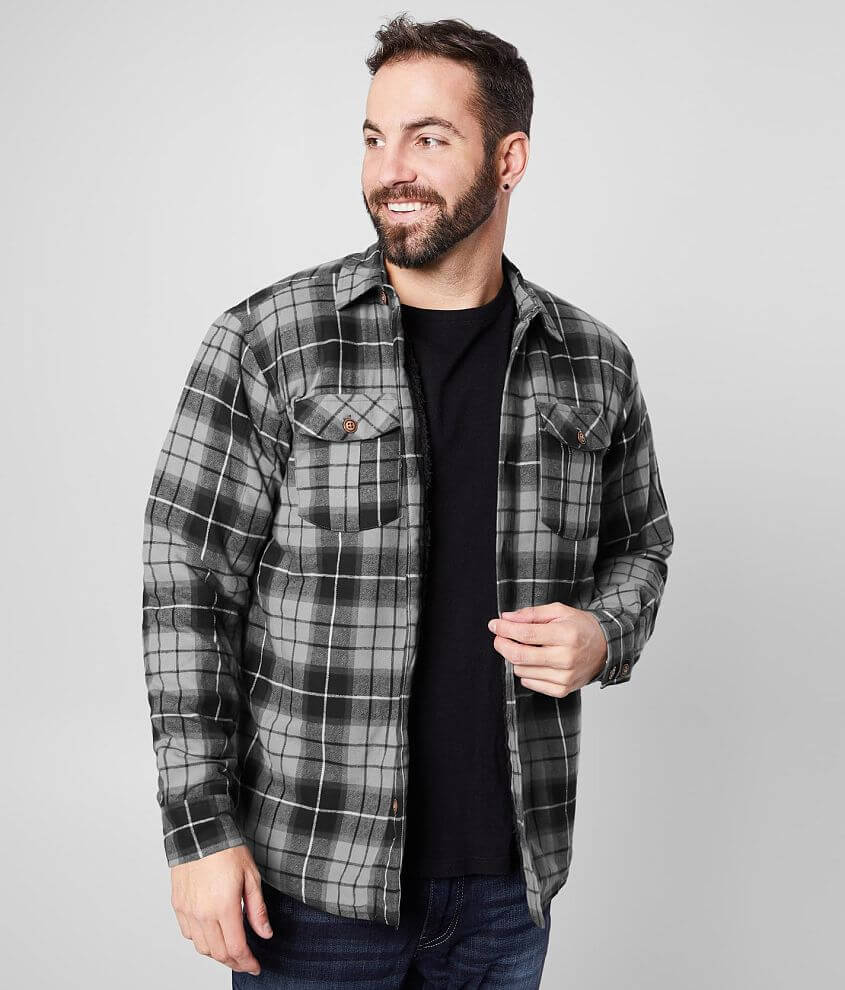 Howitzer Enlisted Plaid Shacket front view