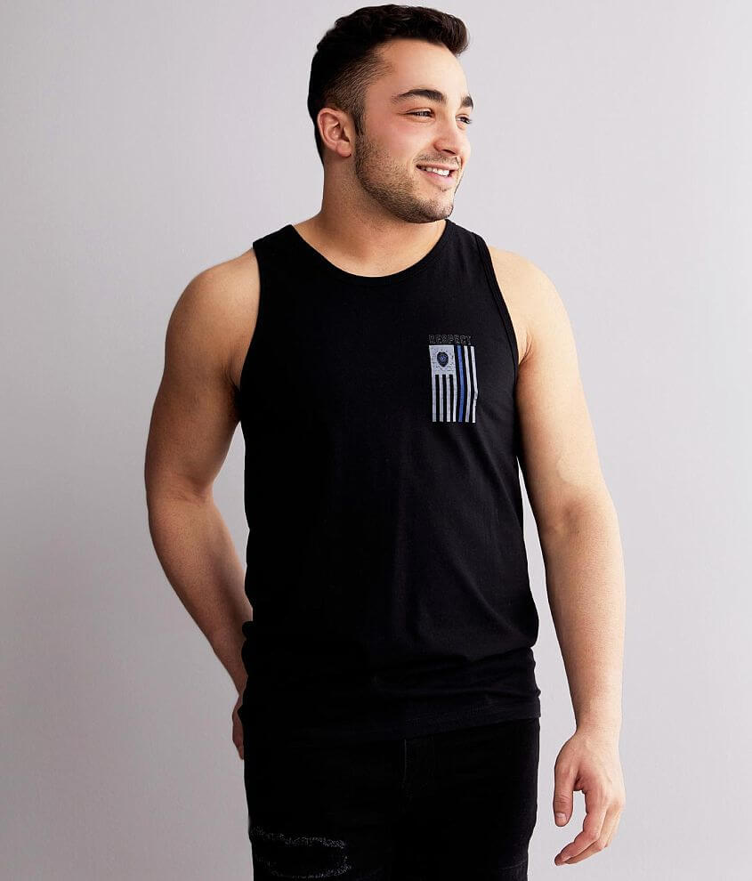 Howitzer Respect The Blue Tank Top front view