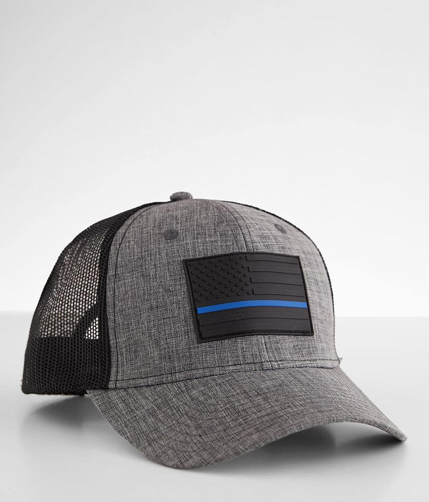 Howitzer Protect Blue Trucker Hat front view