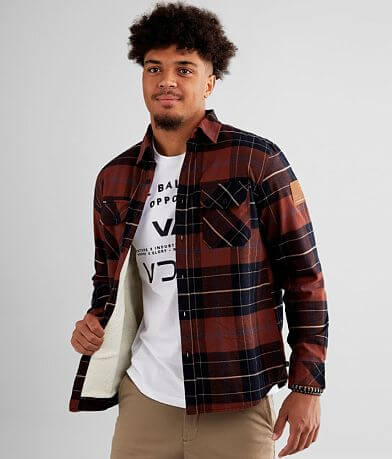 Howitzer Pershing Plaid Sherpa Lined Shacket