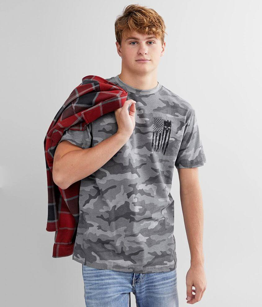Howitzer Patriot Torn T-Shirt front view