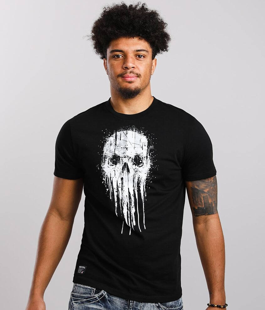 Howitzer Skull Drip T-Shirt front view