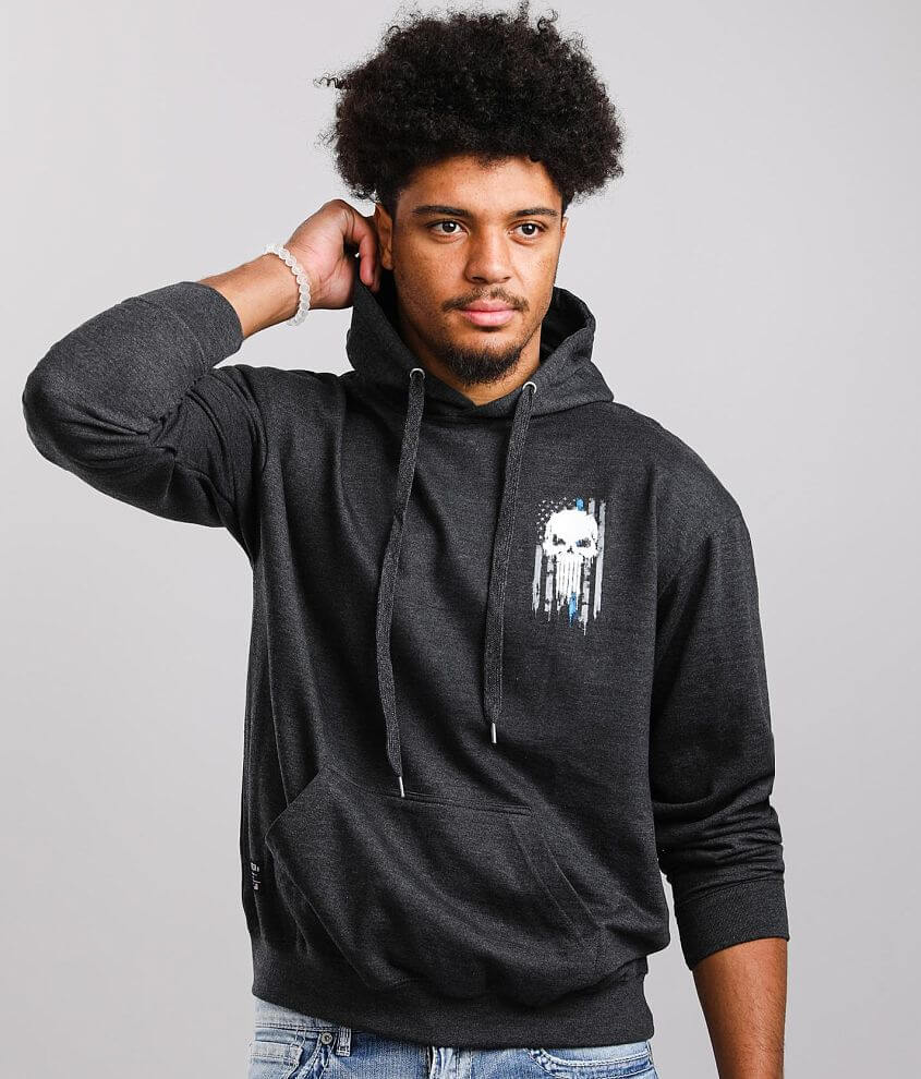 Howitzer Back The Blue Hooded Sweatshirt front view