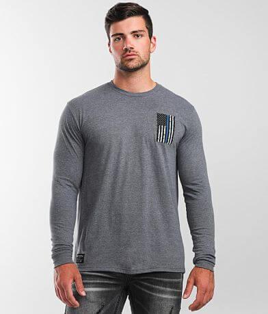 Howitzer Blue Line Smash T-Shirt
