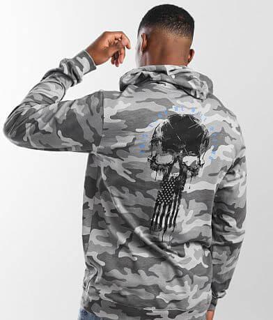Howitzer Flag Skull Hoodie
