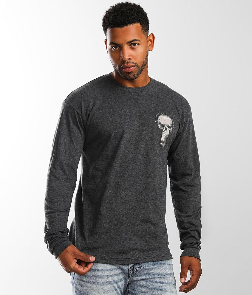 Howitzer Flag Skull T-Shirt front view