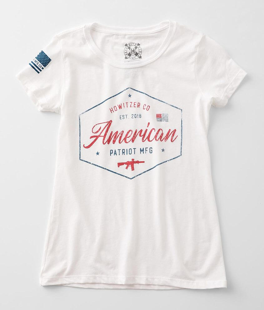 Howitzer American Badge T-Shirt front view