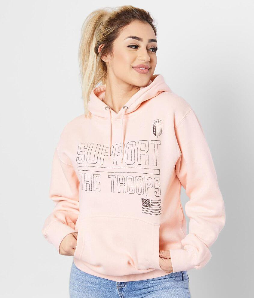 Graphic fleece lined sweatshirt Sleeve hit Front pouch pocket Bust measures 38\\\