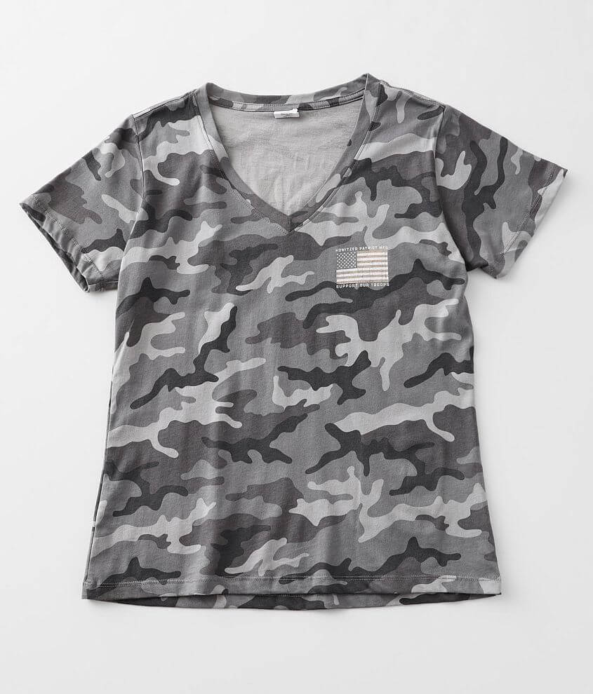 Howitzer Support Camo T-Shirt front view