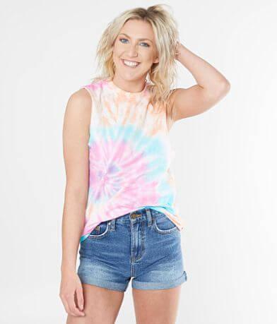 The Dye House Tie Dye Sleeveless T-Shirt