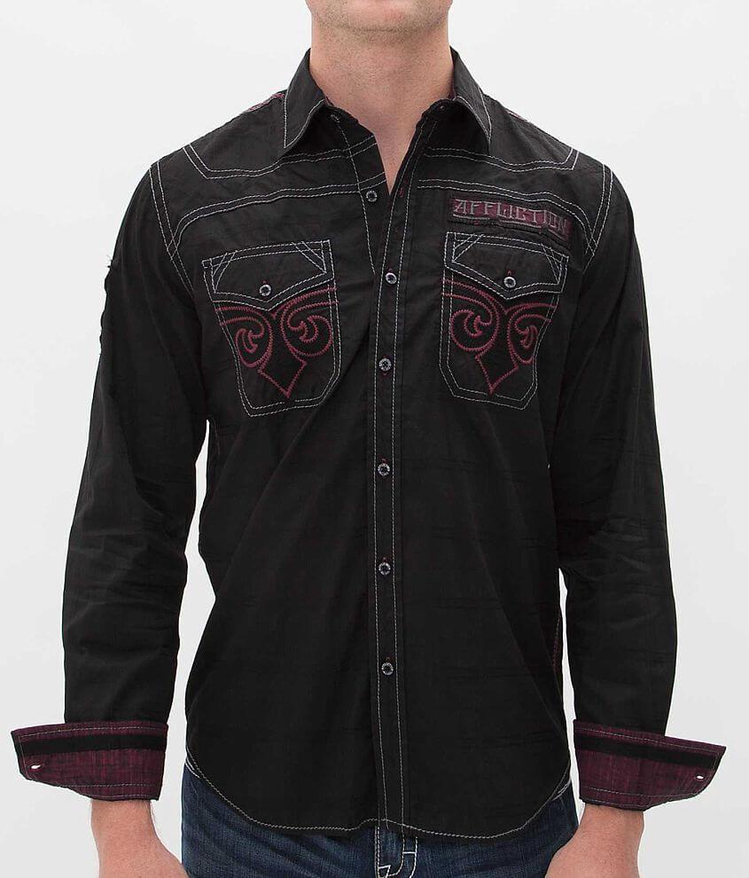 Affliction Black Premium Black Iron Shirt front view