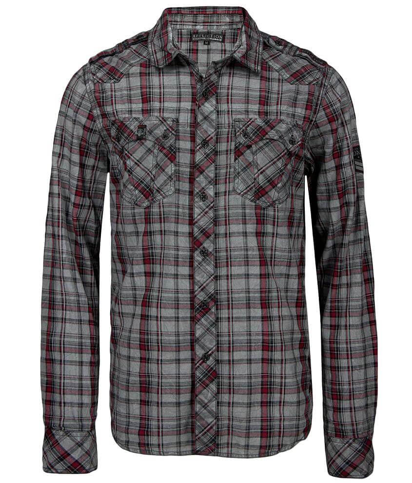 Affliction Black Premium Battle Shirt front view