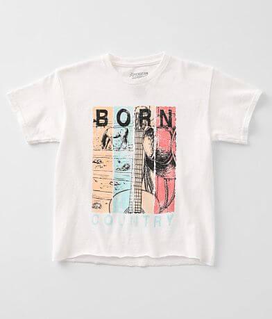 Girls - American Highway Born Country T-Shirt