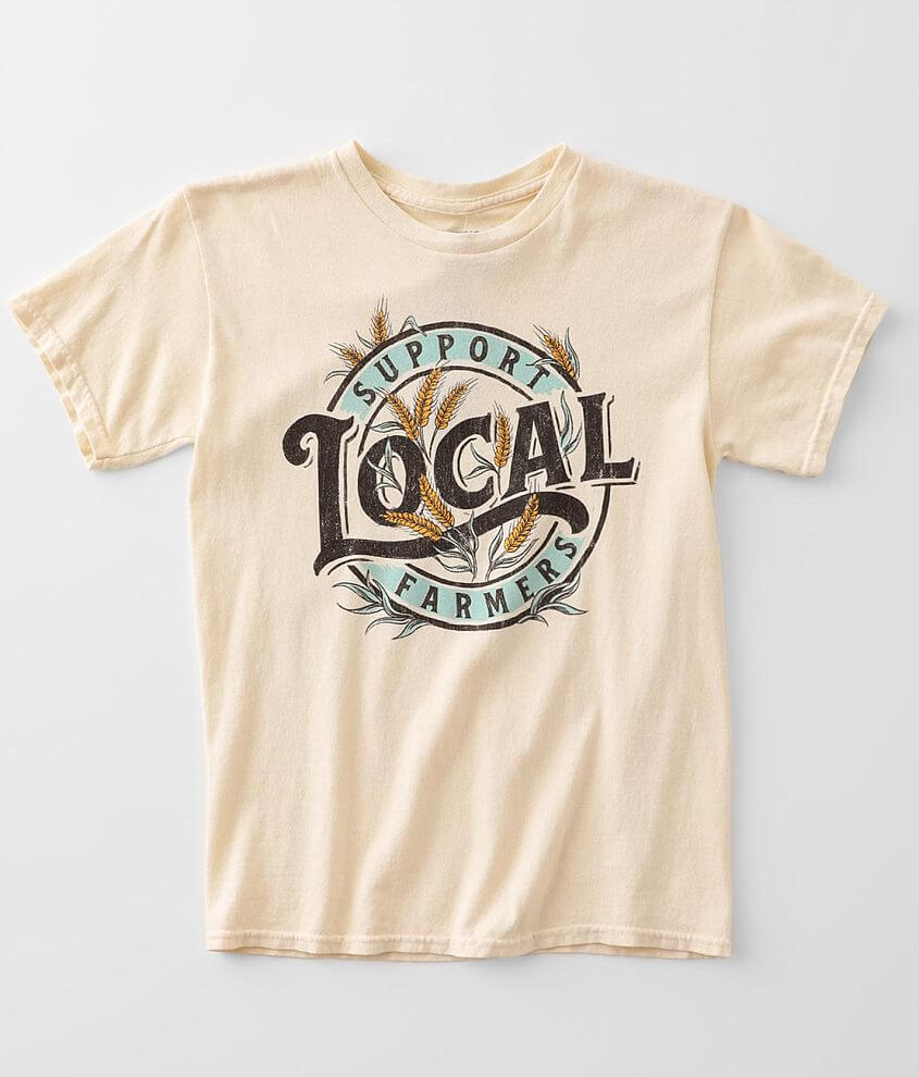 Girls - American Highway Support Farmers T-Shirt front view