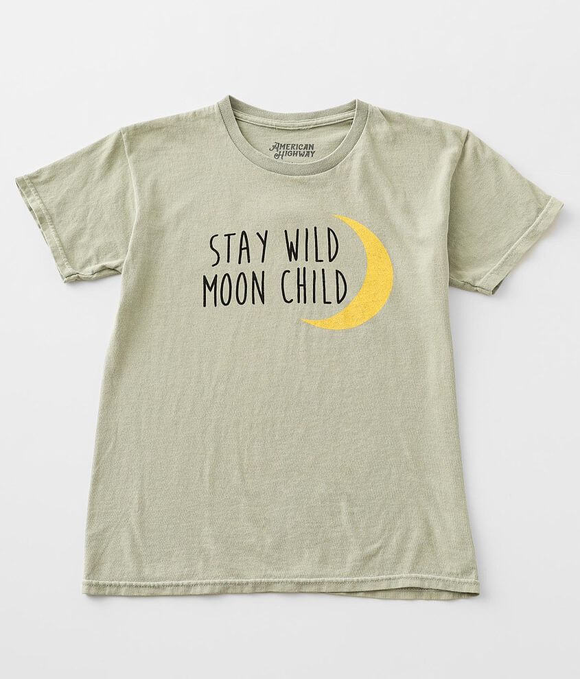 Girls- American Highway Stay Wild Moon T-Shirt front view