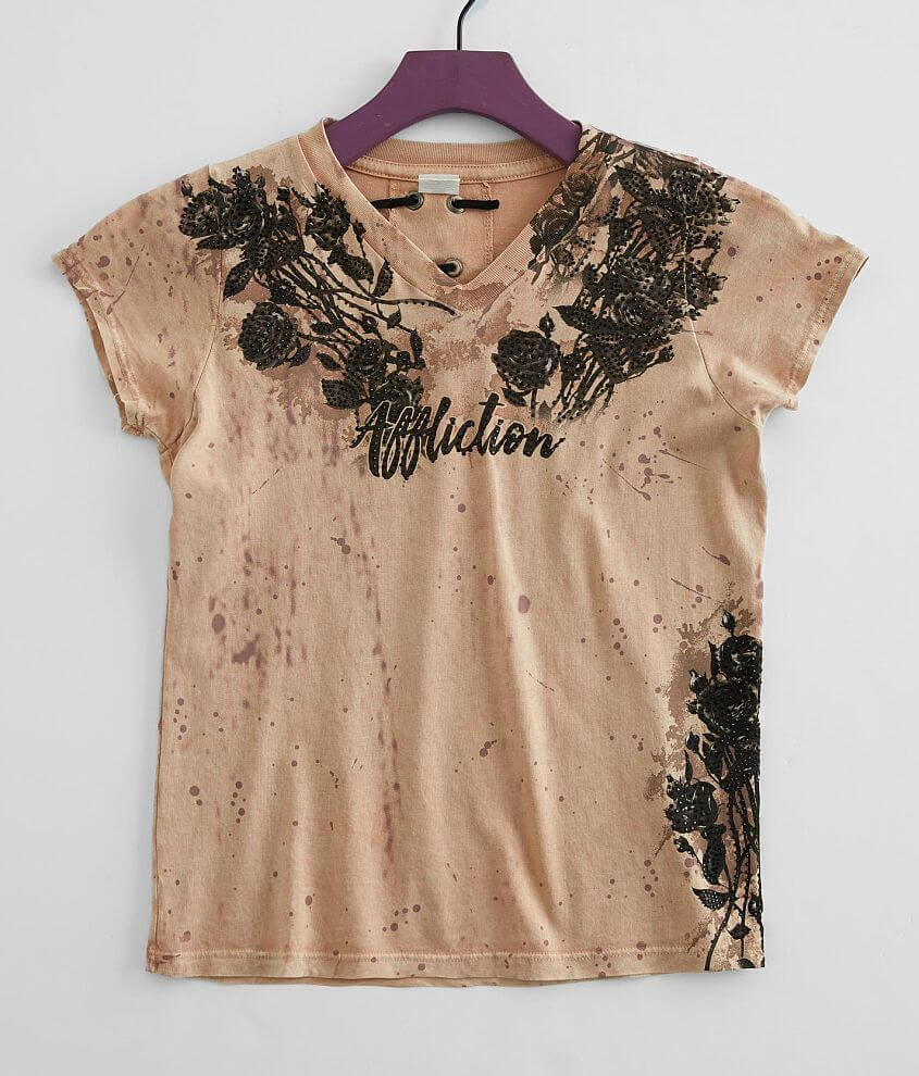 Girls - Affliction Provo T-Shirt front view
