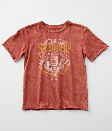 Girls- Affliction American Customs Redline T-Shirt