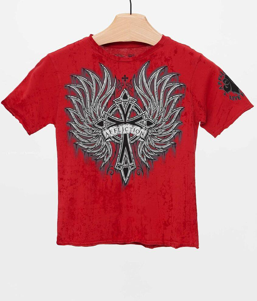 Boys - Affliction Chromatic Rust T-Shirt front view
