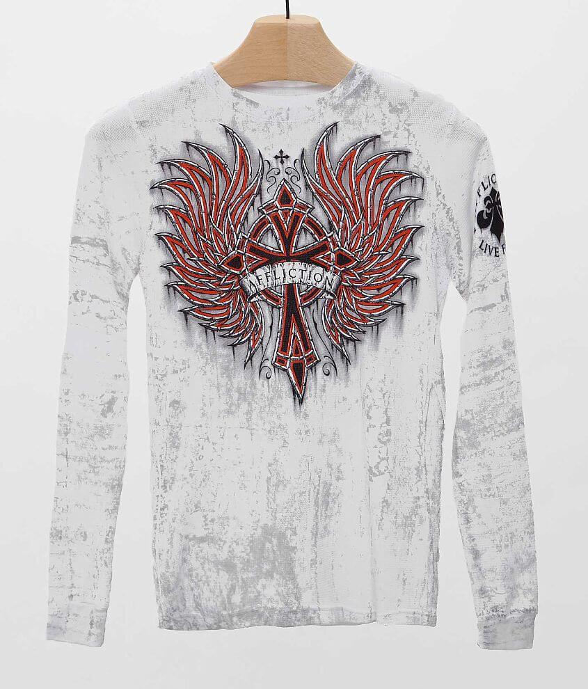 Boys - Affliction Chromatic Rust Thermal Shirt front view