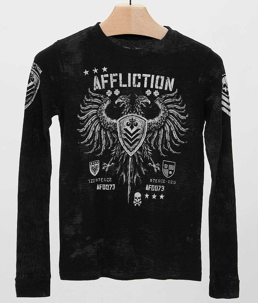 Boys - Affliction Value Thermal T-Shirt front view