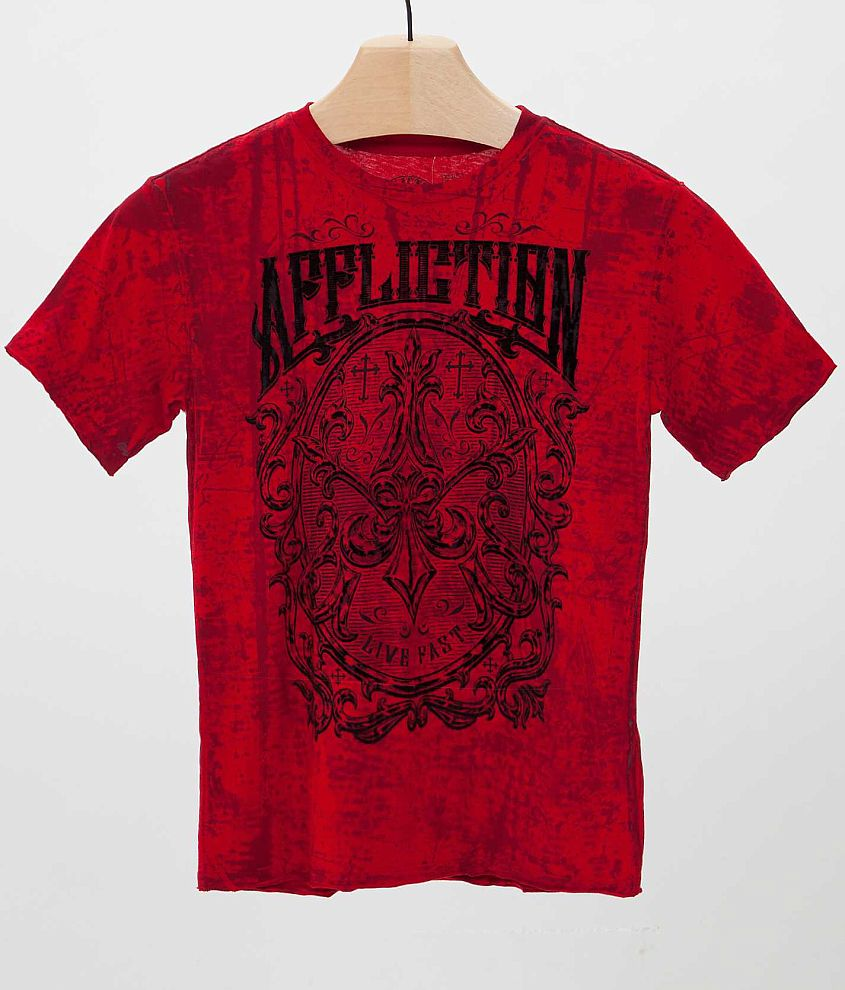 Boys - Affliction Abrasive T-Shirt front view