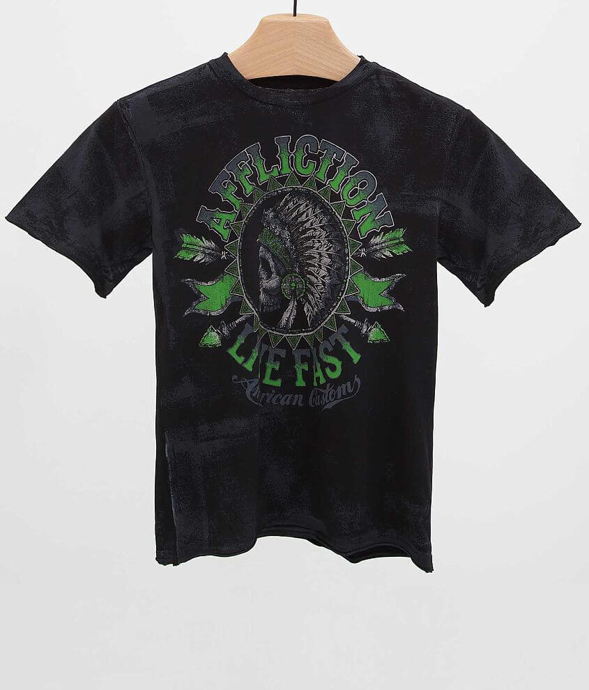 Boys - Affliction Stampede T-Shirt front view