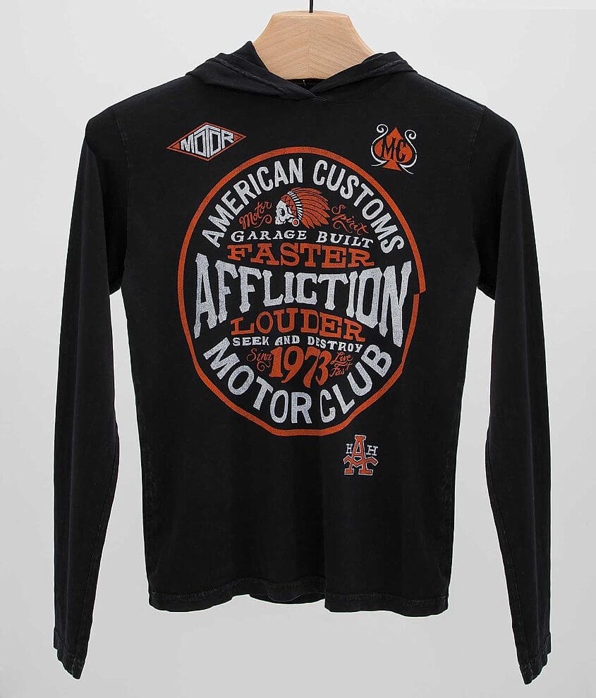 Boys - Affliction Petrol Hoodie front view