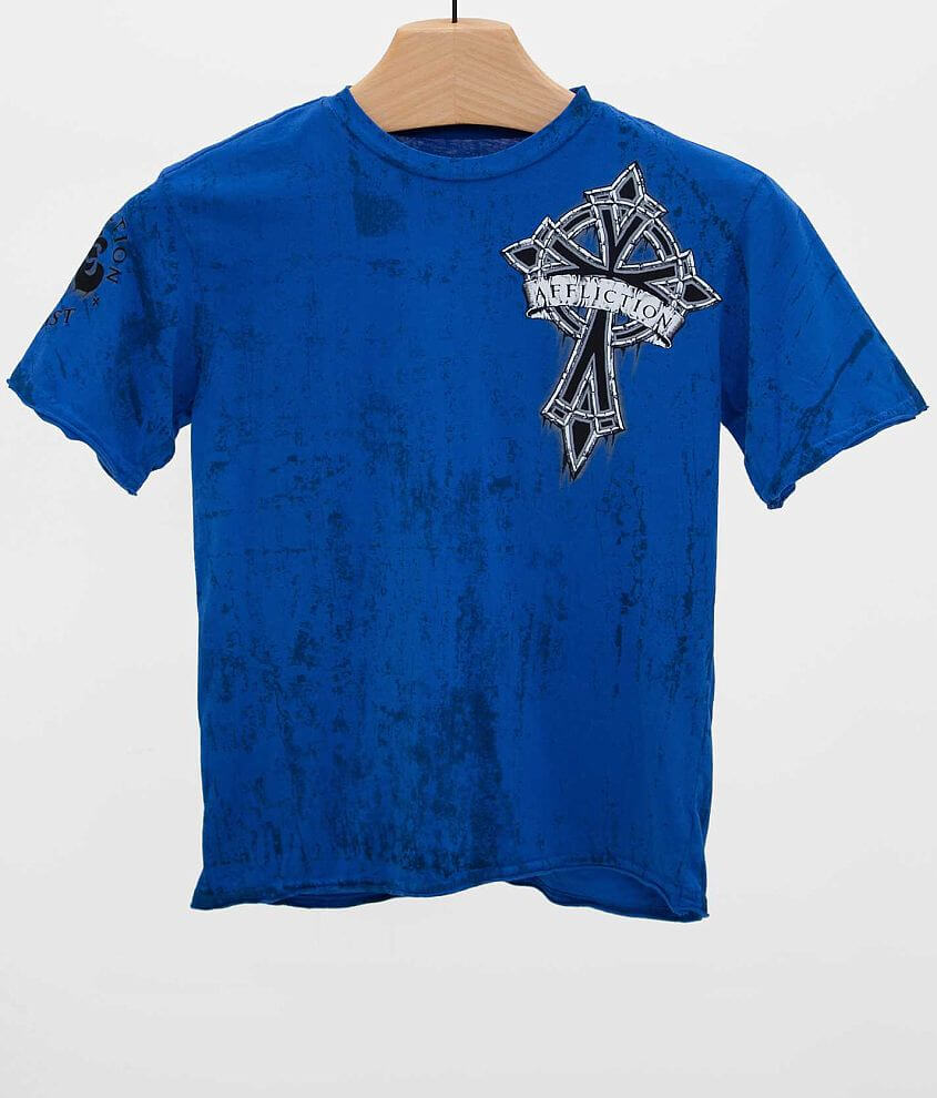 Boys - Affliction Chromatic Cross T-Shirt front view