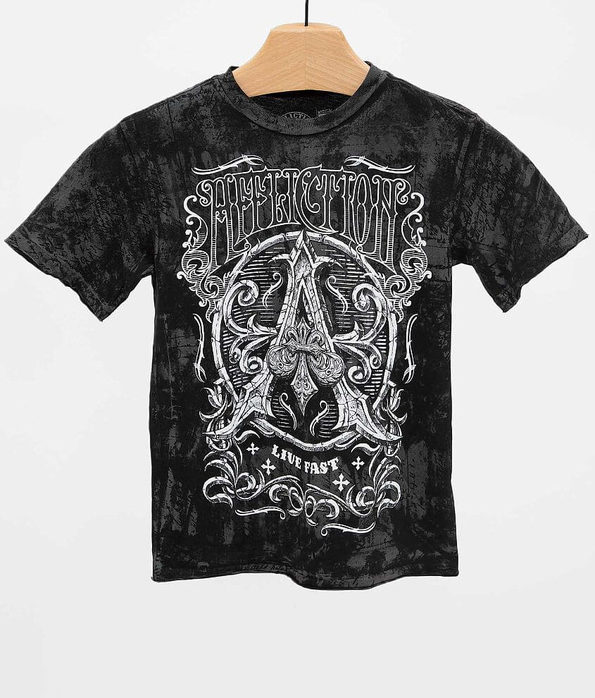 Boys - Affliction Caustic T-Shirt front view