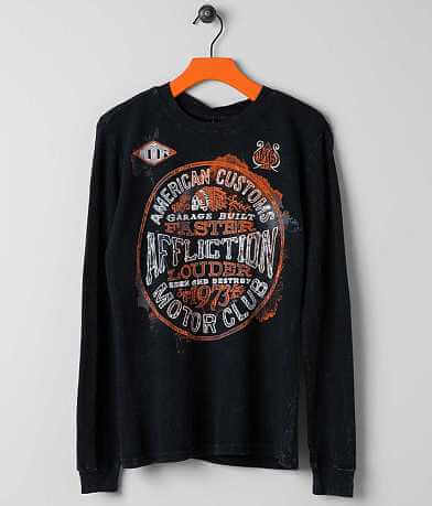 Boys - Affliction Oil Spill Thermal Shirt