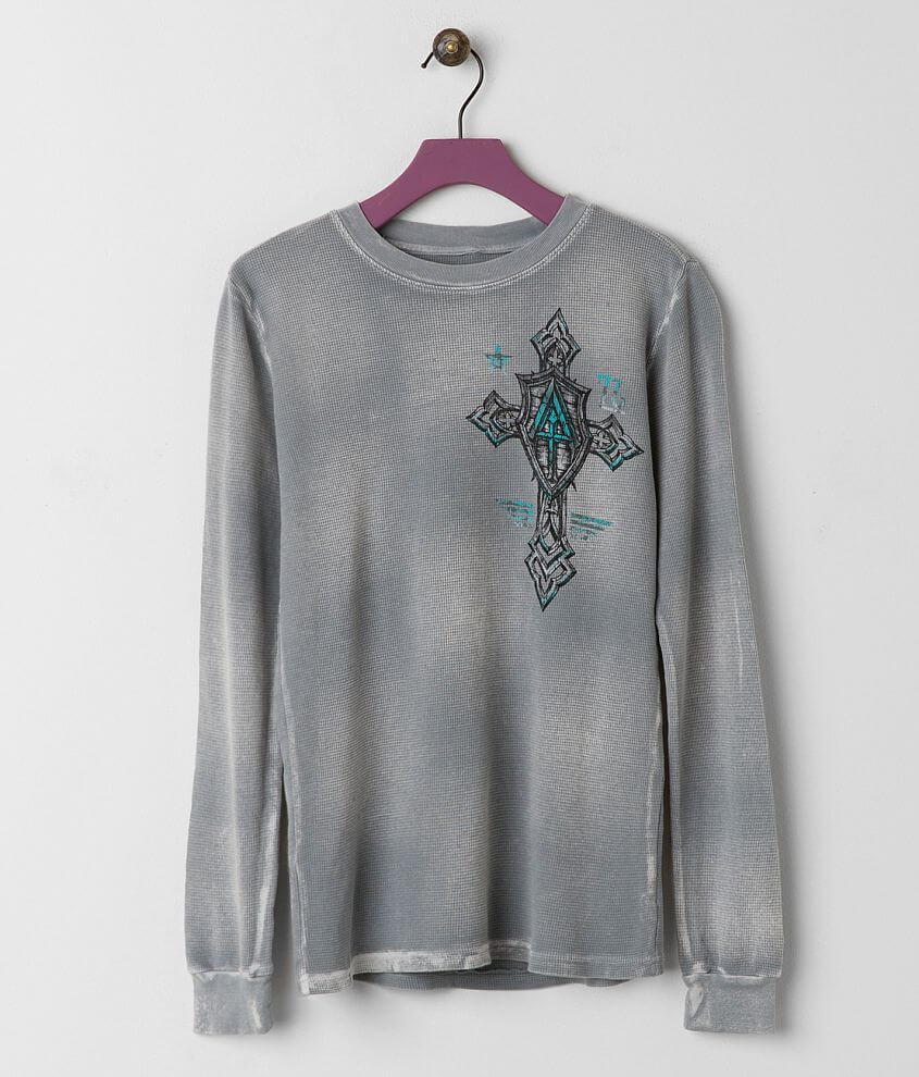 Boys - Affliction Live Fast Prime Thermal Shirt front view