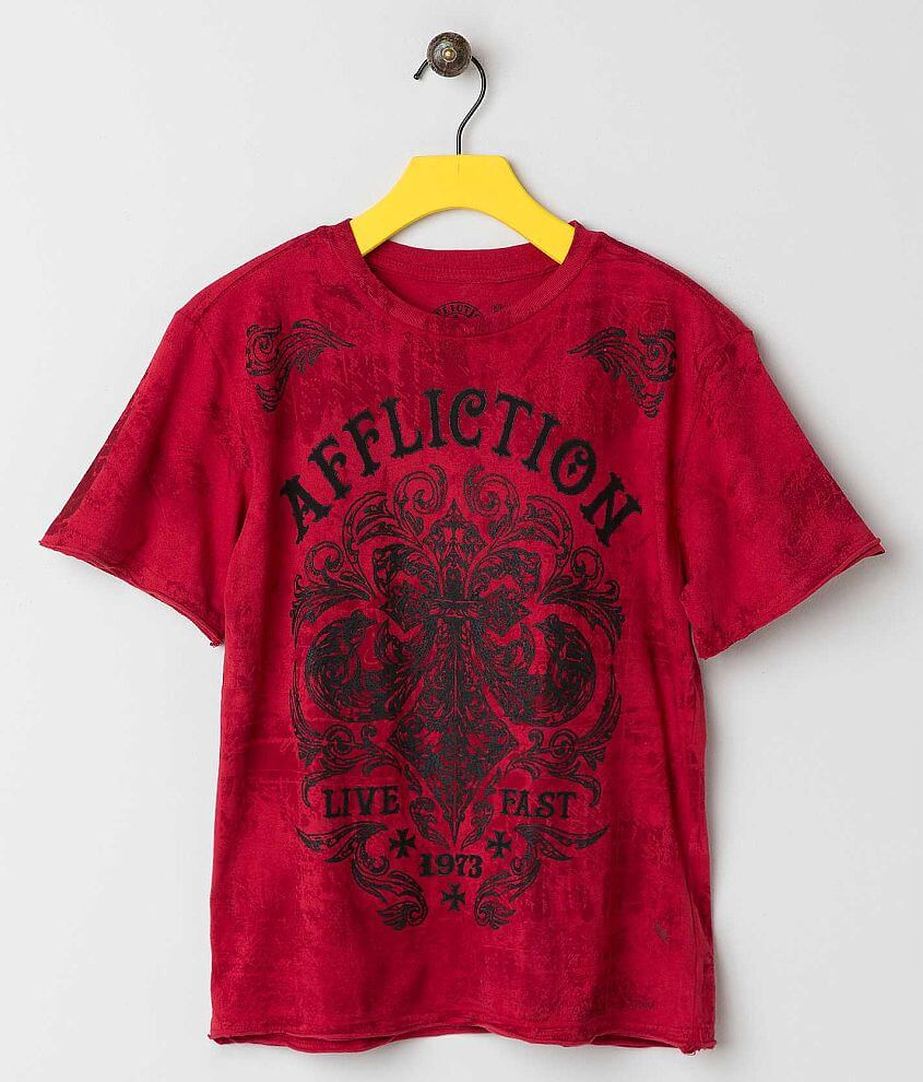 Boys - Affliction Dark Consequence T-Shirt front view
