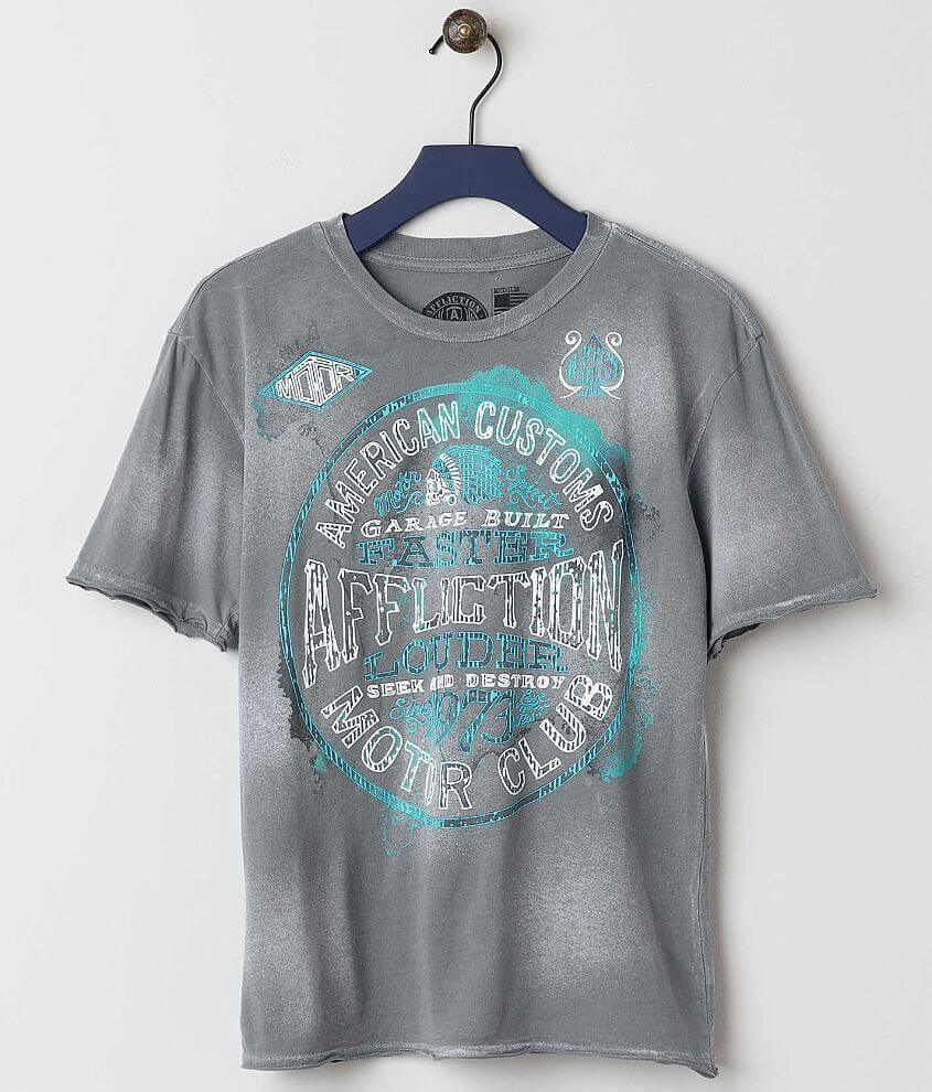 Boys - Affliction Oil Spill T-Shirt front view