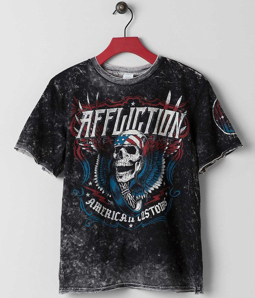 Boys - Affliction Thunderclap Reversible T-Shirt front view